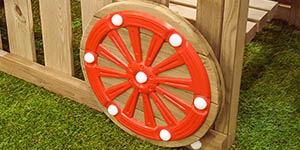 Childrens Garden Play Equipment Cubby Train