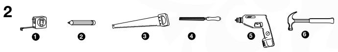 Obrázok 2: Potrebné nástroje